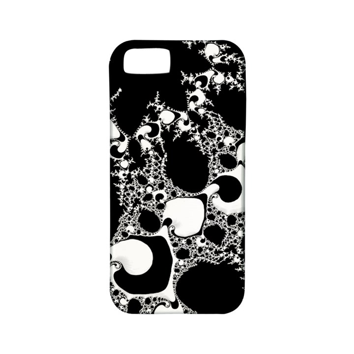 Special Fractal 04 B&w Apple iPhone 5 Classic Hardshell Case (PC+Silicone)