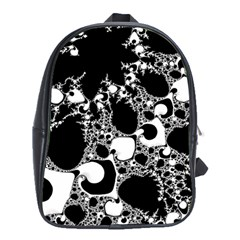 Special Fractal 04 B&w School Bag (xl)