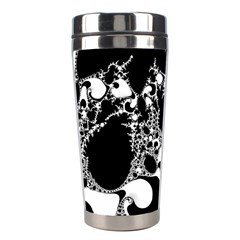 Special Fractal 04 B&w Stainless Steel Travel Tumbler