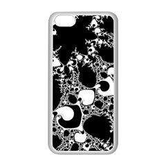 Special Fractal 04 B&w Apple iPhone 5C Seamless Case (White)
