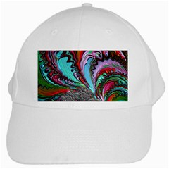 Special Fractal 02 Red White Baseball Cap