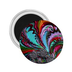 Special Fractal 02 Red 2.25  Button Magnet