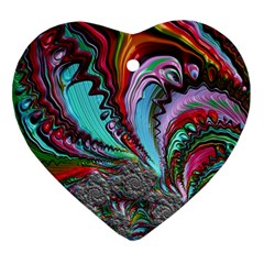 Special Fractal 02 Red Heart Ornament