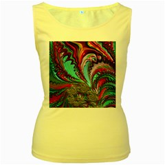 Special Fractal 02 Red Women s Tank Top (Yellow)