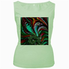 Special Fractal 02 Red Women s Tank Top (Green)