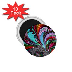 Special Fractal 02 Red 1.75  Button Magnet (10 pack)