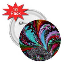 Special Fractal 02 Red 2.25  Button (10 pack)