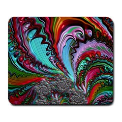 Special Fractal 02 Red Large Mouse Pad (Rectangle)