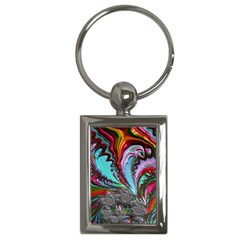 Special Fractal 02 Red Key Chain (Rectangle)
