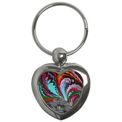 Special Fractal 02 Red Key Chain (heart)
