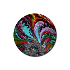 Special Fractal 02 Red Drink Coaster (Round)