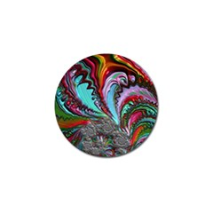 Special Fractal 02 Red Golf Ball Marker 10 Pack