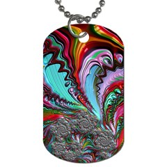 Special Fractal 02 Red Dog Tag (two Sided)