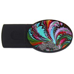 Special Fractal 02 Red 2gb Usb Flash Drive (oval)
