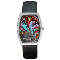 Special Fractal 02 Red Tonneau Leather Watch