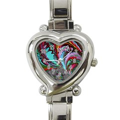 Special Fractal 02 Red Heart Italian Charm Watch