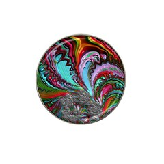 Special Fractal 02 Red Golf Ball Marker 4 Pack (for Hat Clip)