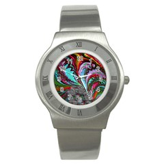 Special Fractal 02 Red Stainless Steel Watch (slim)