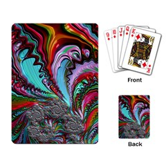 Special Fractal 02 Red Playing Cards Single Design