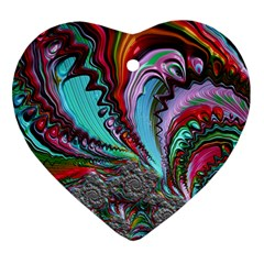 Special Fractal 02 Red Heart Ornament (Two Sides)