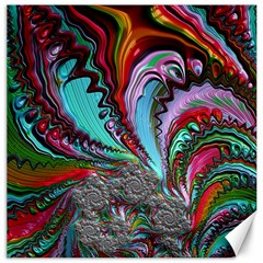 Special Fractal 02 Red Canvas 16  X 16  (unframed)