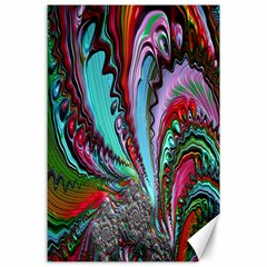 Special Fractal 02 Red Canvas 24  x 36  (Unframed)