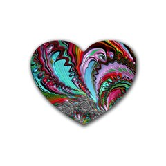 Special Fractal 02 Red Drink Coasters 4 Pack (Heart)