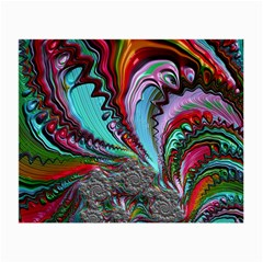 Special Fractal 02 Red Glasses Cloth (Small, Two Sided)
