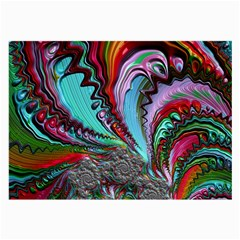 Special Fractal 02 Red Glasses Cloth (large, Two Sided)