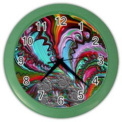 Special Fractal 02 Red Wall Clock (color)