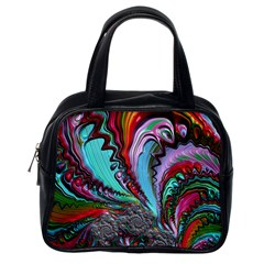 Special Fractal 02 Red Classic Handbag (one Side)