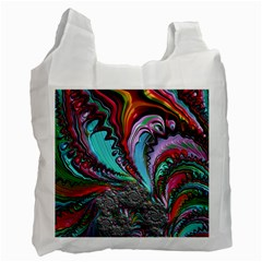 Special Fractal 02 Red White Reusable Bag (one Side)