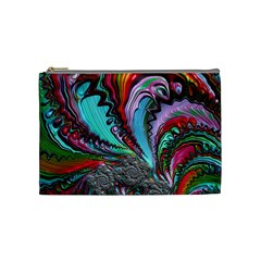 Special Fractal 02 Red Cosmetic Bag (Medium)