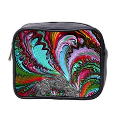 Special Fractal 02 Red Mini Travel Toiletry Bag (two Sides)