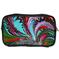 Special Fractal 02 Red Travel Toiletry Bag (one Side)