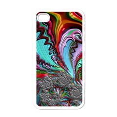 Special Fractal 02 Red Apple Iphone 4 Case (white)