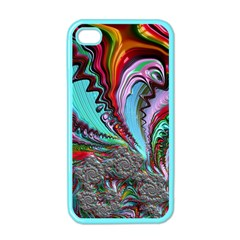 Special Fractal 02 Red Apple Iphone 4 Case (color)