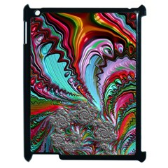 Special Fractal 02 Red Apple iPad 2 Case (Black)