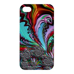 Special Fractal 02 Red Apple iPhone 4/4S Hardshell Case
