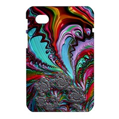 Special Fractal 02 Red Samsung Galaxy Tab 7  P1000 Hardshell Case