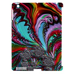Special Fractal 02 Red Apple iPad 3/4 Hardshell Case (Compatible with Smart Cover)