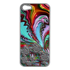 Special Fractal 02 Red Apple iPhone 5 Case (Silver)