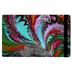 Special Fractal 02 Red Apple iPad 3/4 Flip Case