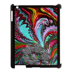 Special Fractal 02 Red Apple iPad 3/4 Case (Black)
