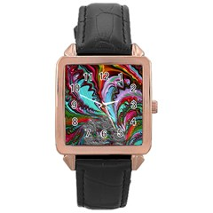 Special Fractal 02 Red Rose Gold Leather Watch