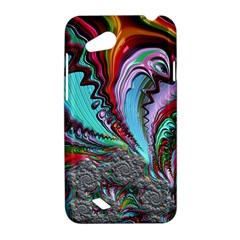Special Fractal 02 Red HTC Desire VC (T328D) Hardshell Case