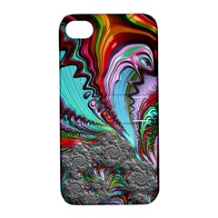 Special Fractal 02 Red Apple iPhone 4/4S Hardshell Case with Stand
