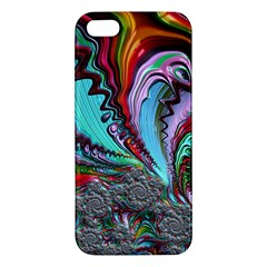 Special Fractal 02 Red Apple Iphone 5 Premium Hardshell Case