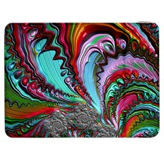 Special Fractal 02 Red Samsung Galaxy Tab 7  P1000 Flip Case
