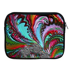 Special Fractal 02 Red Apple Ipad Zippered Sleeve
